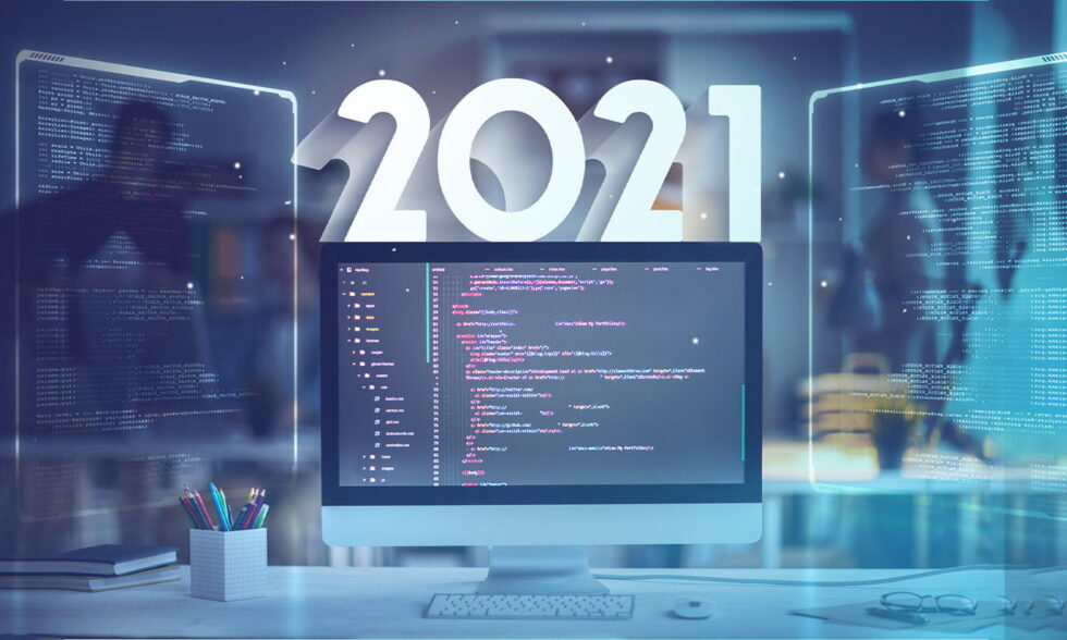 blog post cover - Custom software development trends for 2021